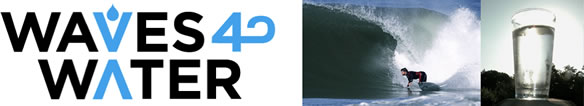 Waves 4 Water surfing water charity logo